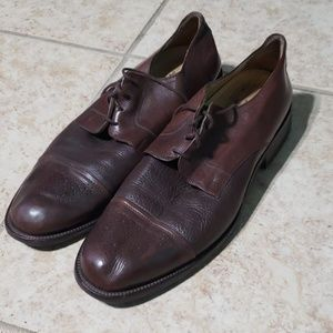 JOHNSTON MURPHY CAP TOE COGNAC OXFORDS SZ 12